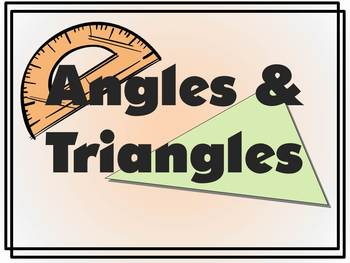 Angles and Triangles - educational rap song