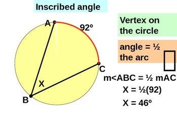 Common Core  Angles Measures and Circles Powerpoint