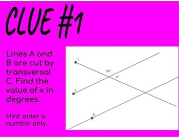 Angles and the Pythagorean Theorem Digital Escape Room