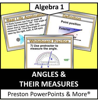 Angles and their Measures in a PowerPoint Presentation