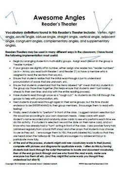 Angles are Awesome - Reader's Theater - Complete Vocabulary Lesson Plan