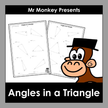 Angles in a Triangle Worksheets