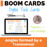 Angles formed by a Transversal Boom Cards (digital task cards)