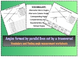 Angles formed by parallel lines cut by a transversal works