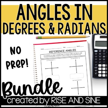 Angles in Degrees and Radians Unit