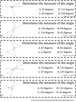 7th Grade Angles in Geometry Game | 7th Grade Math Review