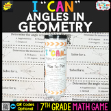 7th Grade Angles in Geometry Game