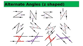 Angles in Parallel Lines Complete Lesson