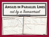 Angles in Parallel Lines cut by a Transversal 8.8D