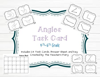Angles in Review Task Card Set