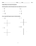 Angles in Standard Position, Coterminal, and Reference Angles HW (Radians Only)