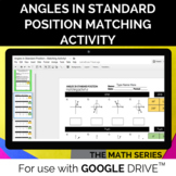 Angles in Std. Position (Degrees Only) - DISTANCE LEARNING