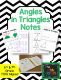 Angles in Triangles Notes