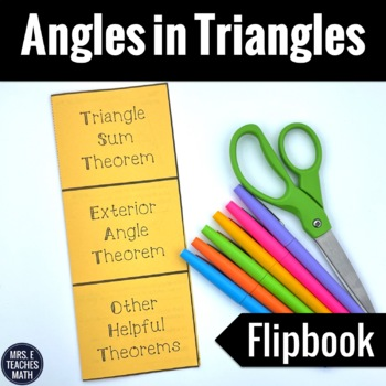 Angles in Triangles Interactive Foldable