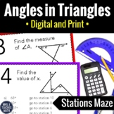 Angles in Triangles Stations Maze