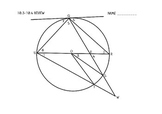 Angles in a Circle Worksheet Activity