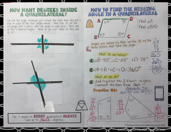 Angles in a Quadrilateral - Doodle Note Brochure for Interactive Notebooks
