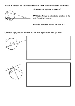 Angles in a circle