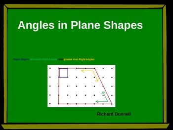 Angles in plane shapes