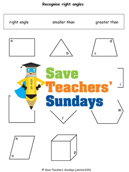 Angles in shapes worksheets  (3 levels of difficulty)