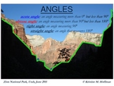 """Angles"" in the shadows at Zion National Park (Math Poster)"