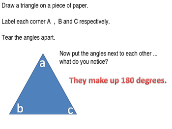 Angles in triangles introductory lesson