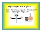 Angles instruction, memory strategies and activities Power Point
