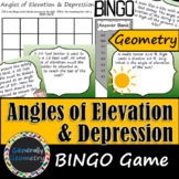 Angles of Elevation & Depression BINGO; Geometry, Right Tr