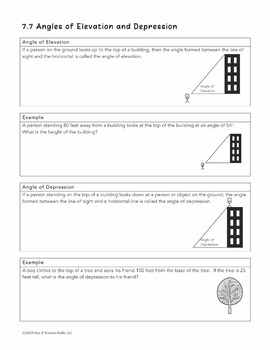 Angles of Elevation and Depression Lesson