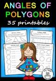 Angles  of Polygons– 35 printables