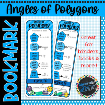 Angles of Polygons Bookmark; Resource Tool
