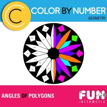 Angles of Polygons Color by Number