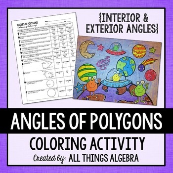 angles of polygons coloring activity by all things algebra tpt. Black Bedroom Furniture Sets. Home Design Ideas