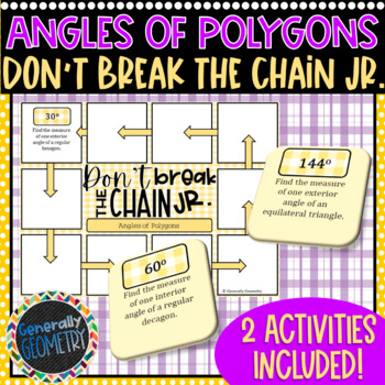 Angles of Polygons Don't Break the Chain Jr-2 PUZZLES!
