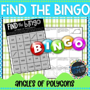 Angles of Polygons Find the Bingo; Geometry