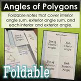 Angles of Polygons Foldable