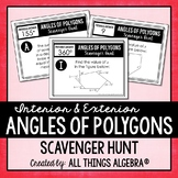 Angles of Polygons (Interior & Exterior) Scavenger Hunt