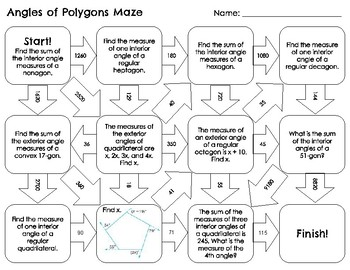 Angles of Polygons Maze
