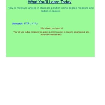 Angles of Rotation SmartBoard Lesson