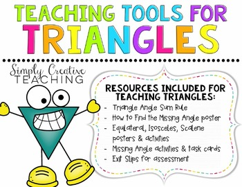 Angles of Triangles Activities & Posters