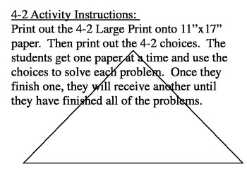 Angles of Triangles Activity