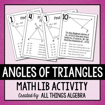 Angles of Triangles Math Lib