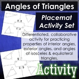 Angles of Triangles - Placemat Activity Set