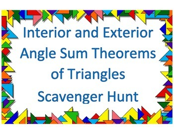 Angles of Triangles Scavenger Hunt