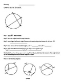 Angles of a Circle Discovery Activity