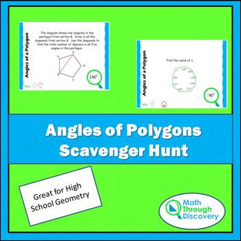 Geometry:  Angles of a Polygon Scavenger Hunt