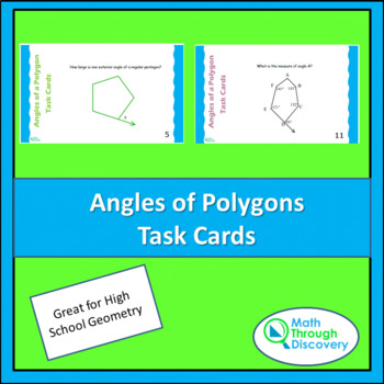 Angles of a Polygon Task Cards