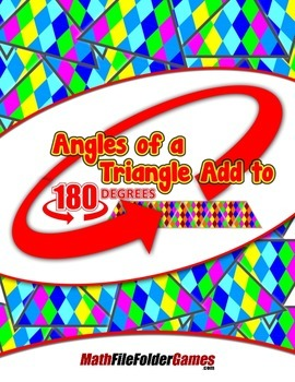 Angles of a Triangle Add to 180 degrees {Geometry Activity}
