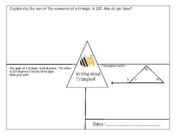 Angles of a Triangle (CCSS 7.G.2 and 8.G.5)