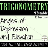 Angles of depression and elevation word problems Digital t